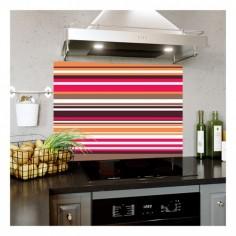 Panou bucatarie, protectie plita, aragaz, antistropire, print UV model Abstract Dungi Multicolor 2 125x50 cm Decoglass