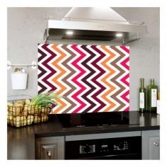Panou bucatarie, protectie plita, aragaz, antistropire, print UV model Abstract Multicolor Dungi 60x60 cm Decoglass