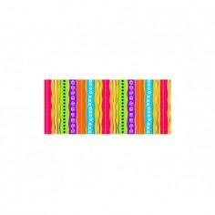 Panou bucatarie, protectie plita, aragaz, antistropire, print UV model Abstract MultiColor 3 100x50 cm Decoglass
