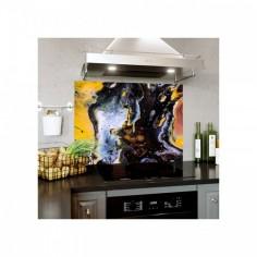 Panou decorativ protectie plita, aragaz, antistropire, Abstract 120x60 cm Decoglass