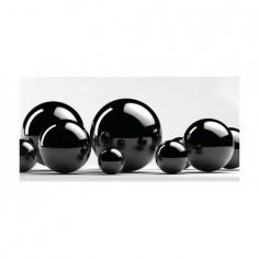 Panou bucatarie, protectie plita, aragaz, antistropire, print UV model Abstract Bile Negre 100x50 cm Decoglass