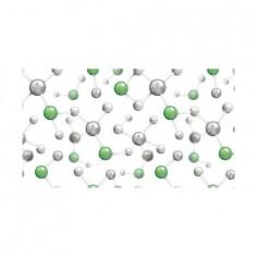 Panou bucatarie, protectie plita, aragaz, antistropire, print UV model Molecule 60x50 cm Decoglass