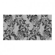 Panou bucatarie, protectie plita, aragaz, antistropire, print UV model Abstract Floral Negru 60x60 cm Decoglass