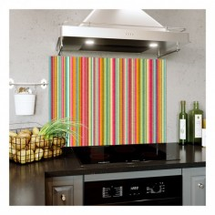 Panou bucatarie, protectie plita, aragaz, antistropire, print UV model Abstract Dungi Colorate 1 90x60 cm Decoglass