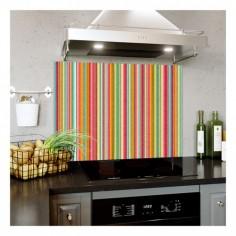 Panou bucatarie, protectie plita, aragaz, antistropire, print UV model Abstract Dungi Colorate 1 120x60 cm Decoglass