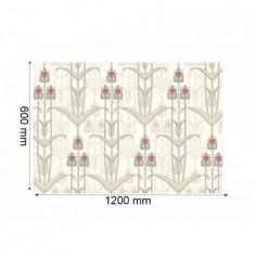 Panou bucatarie, protectie plita, aragaz, antistropire, print UV model Tapet Verde 60x50 cm Decoglass