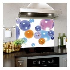 Panou bucatarie, protectie plita, aragaz, antistropire, print UV model Baloane Colorate 90x60 cm Decoglass