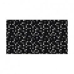 Panou bucatarie, protectie plita, aragaz, antistropire, print UV model Cercuri Pixelate 100x50 cm Decoglass