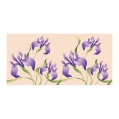 Panou bucatarie, protectie plita, aragaz, antistropire, print UV model Iris Olandez 90x60 cm Decoglass