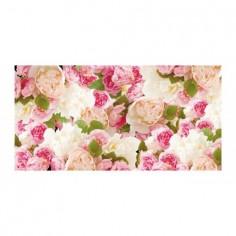 Panou bucatarie, protectie plita, aragaz, antistropire, print UV model Ornament Floral Roz 60x50 cm Decoglass