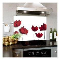 Panou bucatarie, protectie plita, aragaz, antistropire, print UV model 7 Trandafiri 60x50 cm Decoglass