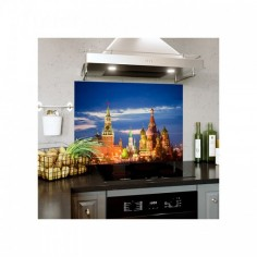 Panou decorativ bucatarie, protectie plita, antistropire, model Zaryadye Park (Moscova) 60x50 cm Decoglass