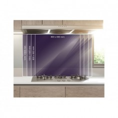 Panou bucatarie, protectie plita, aragaz, antistropire, print UV model Desen Oras 60x60 cm Decoglass