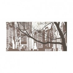 Panou bucatarie, protectie plita, aragaz, antistropire, print UV model Desen Oras 120x60 cm Decoglass