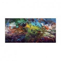Panou bucatarie, protectie plita, aragaz, antistropire, print UV model Pictura Abstract 60x50 cm Decoglass