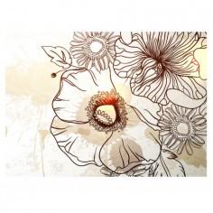 Panou bucatarie, protectie plita, aragaz, antistropire, print UV model Desen Floare 60x60 cm Decoglass