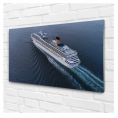 Panou decorativ, sticla securizata, camera zi, culori intense, protectie UV model Croaziera de lux 120x60 cm Decoglass