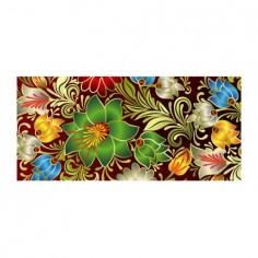 Panou bucatarie, protectie plita, aragaz, antistropire, print UV model Tapet Floral 2 60x60 cm Decoglass