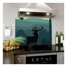 Panou bucatarie, protectie plita, aragaz, antistropire, print UV model Cerb 60x60 cm Decoglass