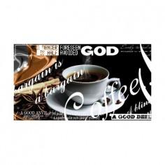 Panou bucatarie, protectie plita, aragaz, antistropire, print UV model Ceasca de Cafea God 60x60 cm Decoglass