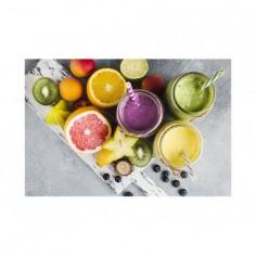 Panou din sticla securizata pentru bucatarie, protectie aragaz, Fructe 125x50 cm Decoglass