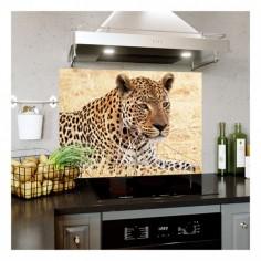 Panou bucatarie, protectie plita, aragaz, antistropire, print UV model Animal Pradator 60x50 cm Decoglass