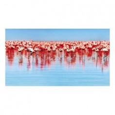 Panou bucatarie, protectie plita, aragaz, antistropire, print UV model Flamingo 60x50 cm Decoglass