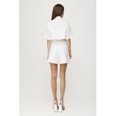 Camasa alba din in cu maneci scurte si cu buzunare - M (38), NEGRU Ana Radu Fashion