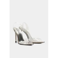 Sandale clear gold and silver - SILVER, 36 Ana Radu Fashion