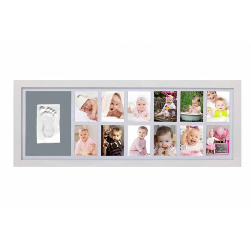 Kit rama foto cu amprenta mulaj manuta sau piciorus - Babys First Year - egato.ro