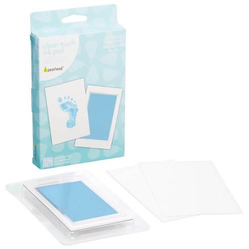 Pearhead - Kit amprenta cu cerneala pentru piciorus - bleu