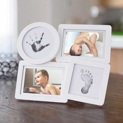 Pearhead - Kit rama foto multipla cu amprente din cerneala pentru manuta si piciorus - egato.ro