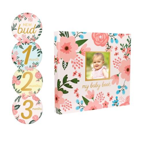 Pearhead - Set cadou caietul bebelusului model floral - egato.ro