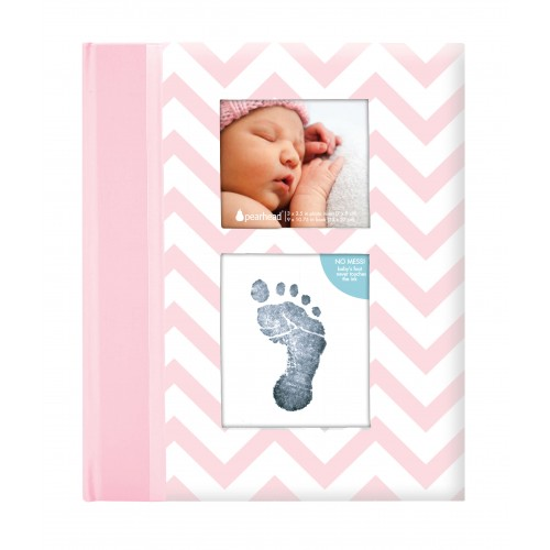 Pearhead - Caietul bebelusului cu amprenta cerneala pink - egato.ro