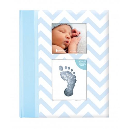 Pearhead - Caietul bebelusului cu amprenta cerneala blue - egato.ro