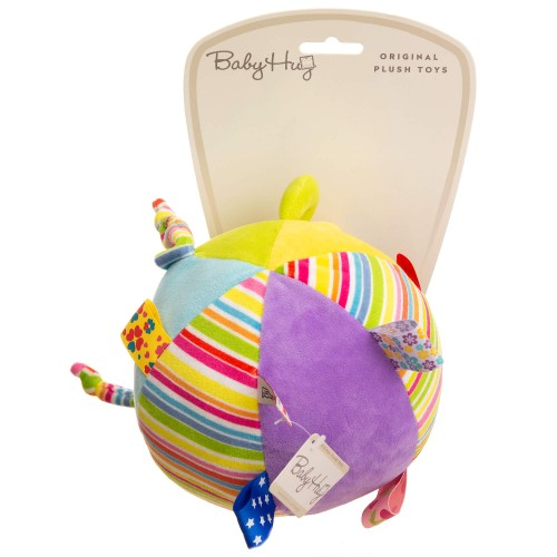 Baby Hug - Minge din plus multicolora cu clopotel - egato.ro