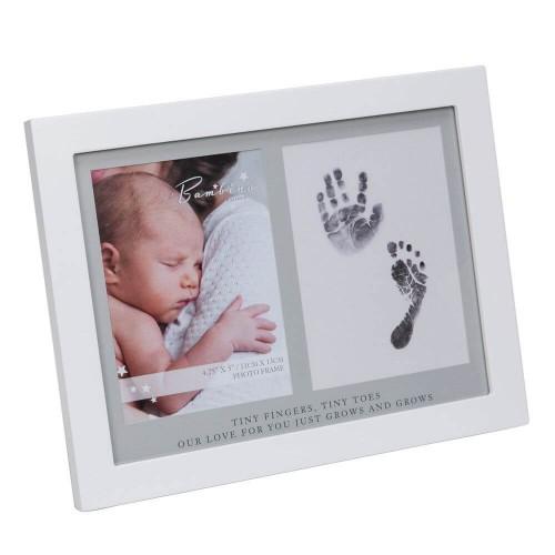 Bambino by Juliana - Kit rama foto amprenta cu cerneala pentru manuta si piciorus - egato.ro