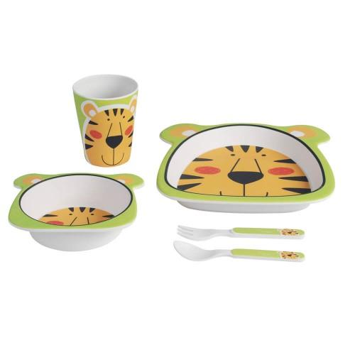 Set mic dejun din bambus - model Tigru - egato.ro