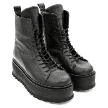 Ghete Mineli Black Leather Fyg - 39 - egato.ro