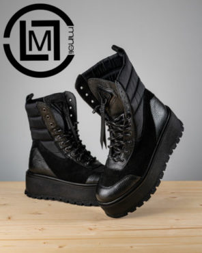 Ghete Mineli Black Leather Tempora - 36 - egato.ro