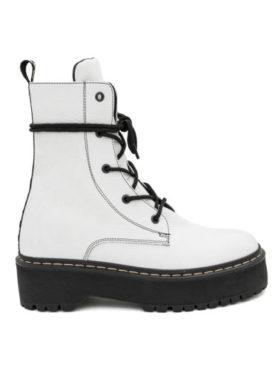 Ghete Mineli CROWN White Leather - 37 - egato.ro