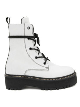 Ghete Mineli CROWN White Leather - 38 - egato.ro