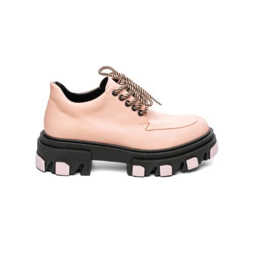 Pantofi Mineli VFTS Pink - Buzunar Negru Mat - egato.ro