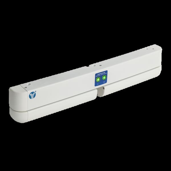 Bolt electric dublu cu actiune electromagnetica, monitorizare, temporizare si LED de stare, alb YB-500HD(LED)