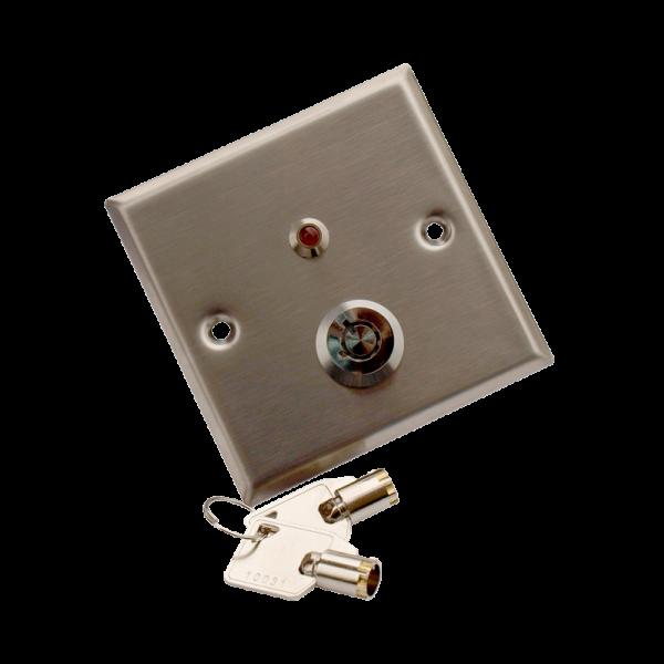 Buton incastrabil din inox, cu cheie YKS-850LS