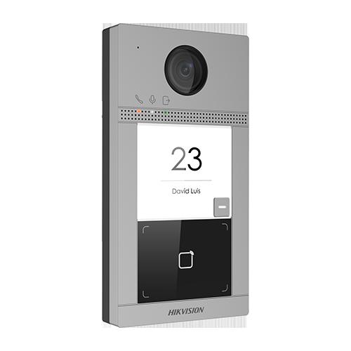 Panou exterior videointerfon TCP/IP pentru 1 familie, Wi-Fi 2.4GHz, control acces integrat - HIKVISION DS-KV8113-WME1