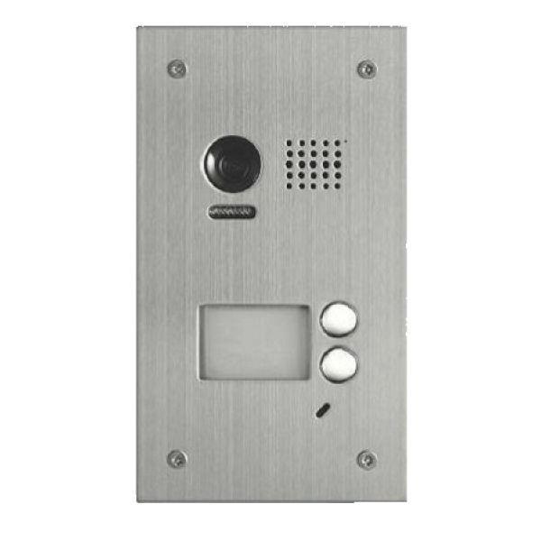 Panou video color de apel exterior, cu conexiune pe 2 fire, camera WIDE ANGLE 105°, pentru doi abonati DT603SDF/C