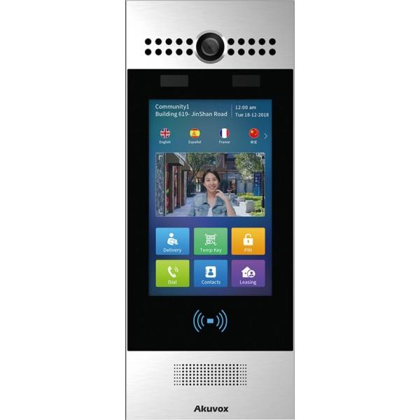 """Video interfon IP SIP- post de apel cu ecran touchscreen de 7"""" si recunoastere faciala R29S"""