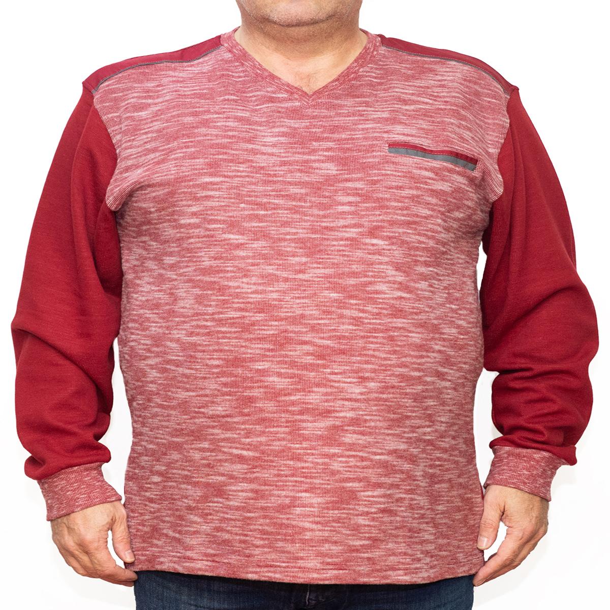 Bluza groasa rosie cu imprimeu si cu anchior, Marime 4XL - egato.ro