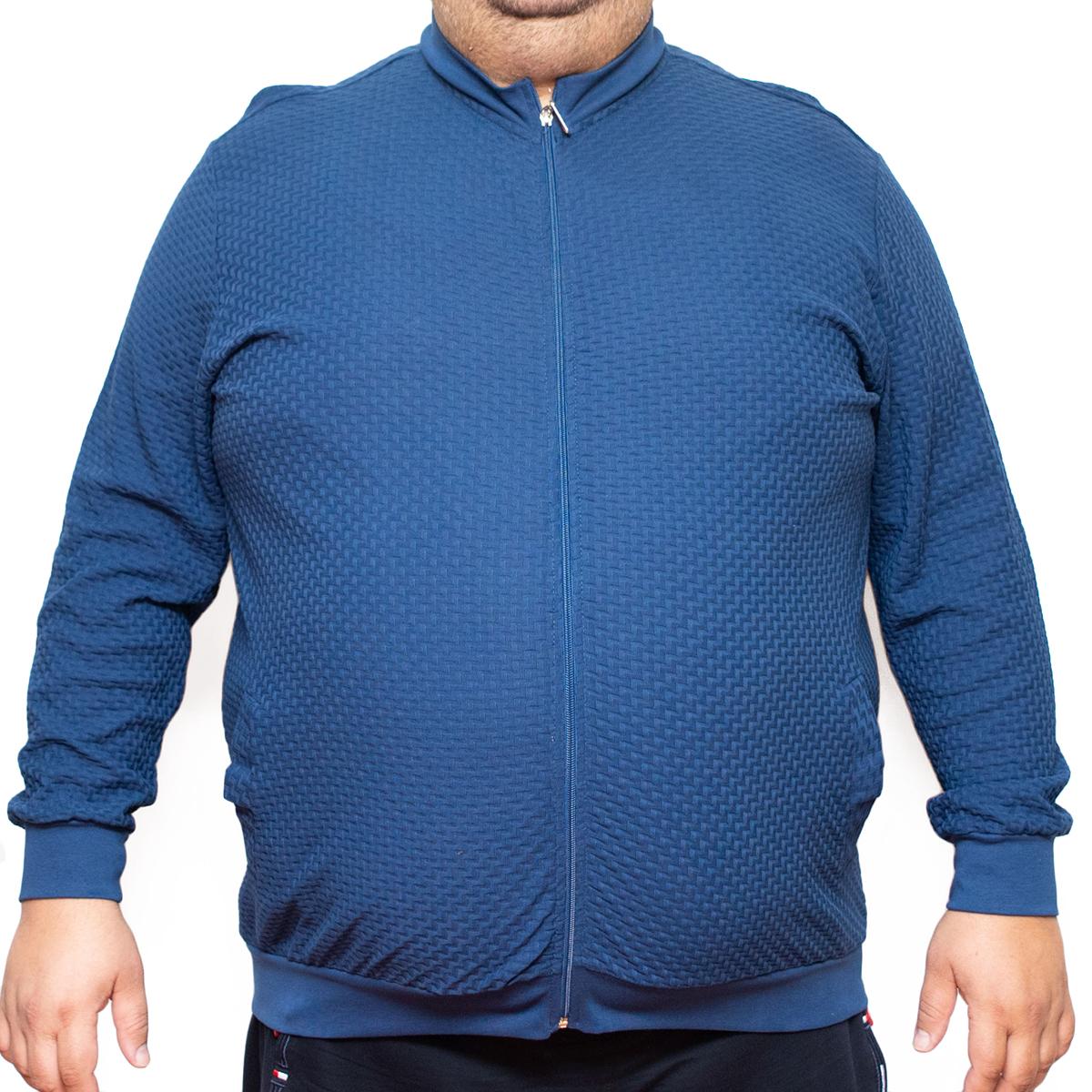 Bluza subtire albastra cu fermoar , Marime 7XL - egato.ro